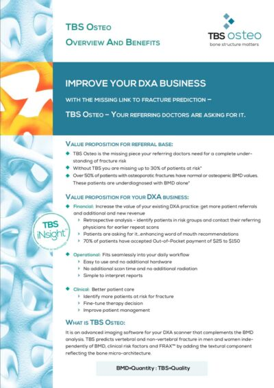 Why and how TBS Osteo will improve your DXA Business