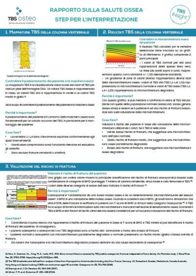 BS rapporto sulla salute ossea andamento - step di interpretazione