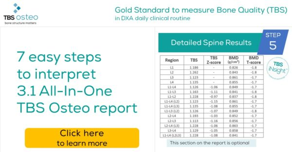 TBS Osteo report interpretation – Detailed Spine Results