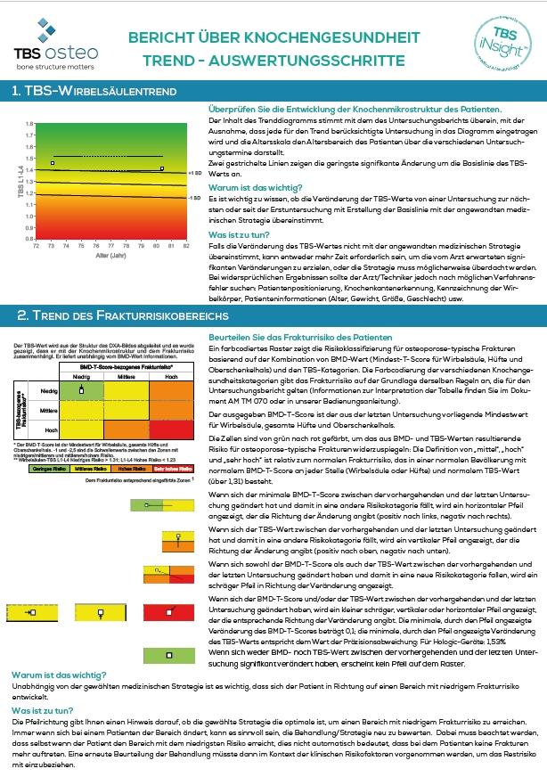 Bericht über knochengesundheit trend - auswertungsschritte